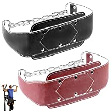 Metalican Gear Leather Dipping Belt (Red)