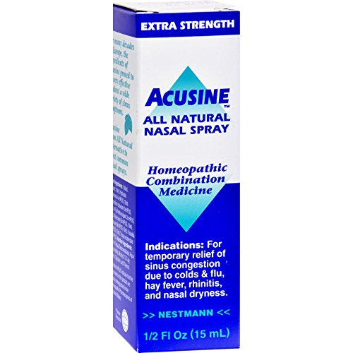 Acusine All Natural Nasal Spray - Homeopathic - Easy To Use - .5 oz (Pack of 2) by Acusine