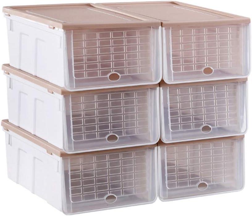HWH Caja de Zapatos, Zapatos para Mujeres Zapatos para niños Caja de Almacenamiento Dormitorio Habitación para niños Almacén Debajo de la Cama Antioxidante Transparente Caja de Acabado: Amazon.es: Hogar