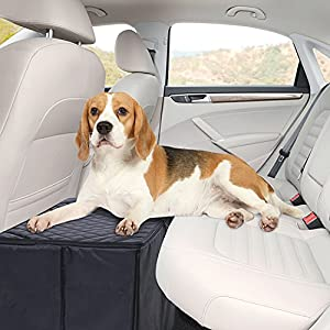 MSR IMPORTS Dog Car Seat Extender - Safer More Comfortable Back Seat Platform with Storage 43