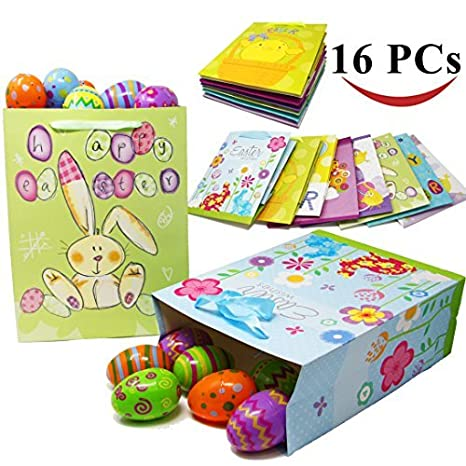 Amazon joyin toy 16 easter day party gift bags for easter joyin toy 16 easter day party gift bags for easter party favors 8 large and negle Images
