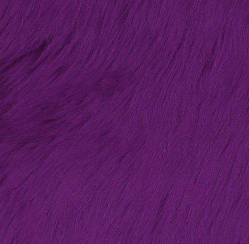 Shannon Faux Fur Luxury Shag Purple Fabric By The Yard