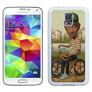 Unique Galaxy S5 Case,Durable I9600 Case Design with Wolf Samsung Galaxy S5 SV I9600 White Case
