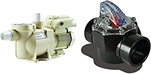 Pentair SuperFlo VS Variable Speed Pool Pump, 342001 & H2 Flow Controls FV-C Control FlowVis 2 x 2.5in. Complete Pool Flow Meter and Check Valve