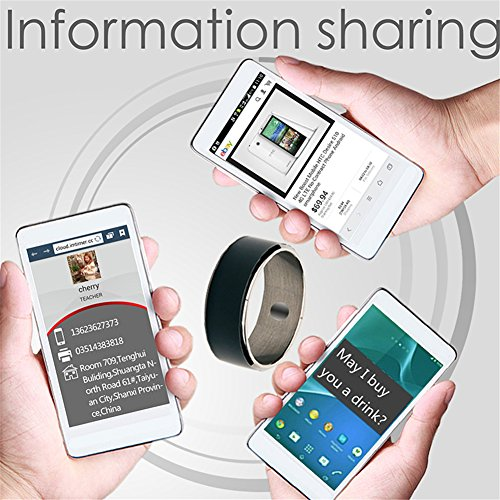 OWIKAR Smart Ring R3F Android WP Compatible NFC Magic Ring Black Waterproof  App Enabled for Nokia, Sony, Samsung, HTC, MIUI Smart Phones High-tech