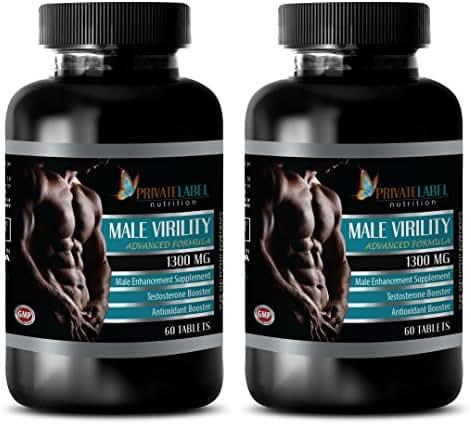 Male enhancing pills erection best seller - MALE VIRILITY 1300 Mg - ADVANCED FORMULA - MALE ENHANCEMENT SUPPLEMENT - maca for menopause - 2 Bottles (120 Tablets)