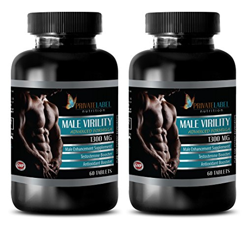 (Men pills to last longer - MALE VIRILITY 1300 Mg - ADVANCED FORMULA - MALE ENHANCEMENT SUPPLEMENT - maca bulk - 2 Bottles (120)