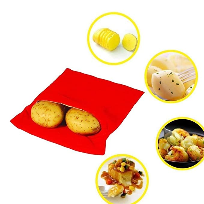 CHOCKACAKE - Bolsa de patatas para microondas (2 unidades), color ...