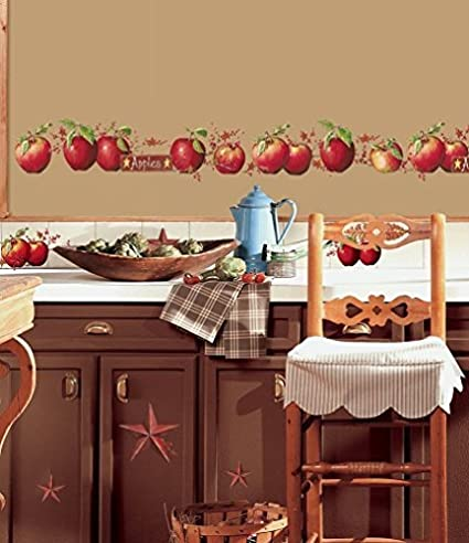 Beau Lunarland Apples 40 BiG Wall Decals Country Stars Border Kitchen Stickers  Room Decor NEW