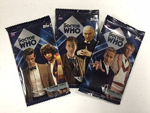 Topps 2015-2016 Official Doctor Who Trading Card HOBBY Foil Booster Pack, (Look for Autographs, Costume Cards, Patch Cards & More)