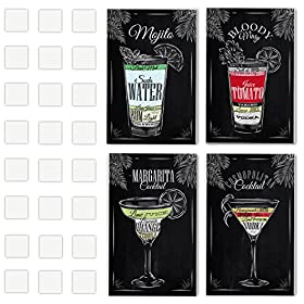 4 Vintage Chalkboard Decorative Poster Set Of Cocktails And Drinks Perfect To Decorate The Ambiance Of A Bar, Restaurant, Pub, Lounge, Or House – 11 x 17 Inches Cardboard – Great Party Decor Gift
