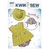 Kwik Sew K3907 Precious Peony Sewing Pattern, Size S-M-L-XL-XXL Hat:S-M-L-XL