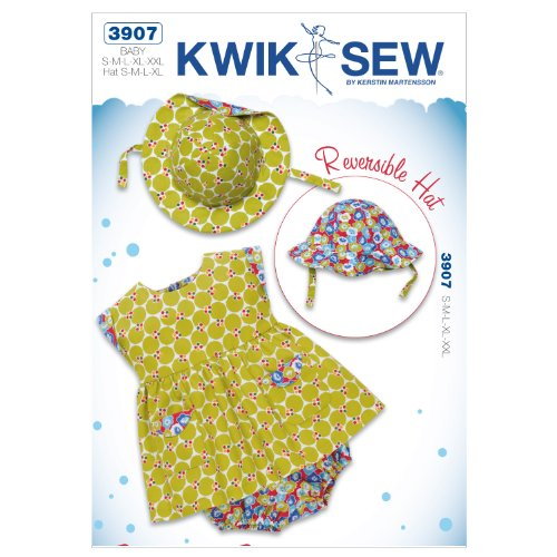 Kwik Sew K3907 Precious Peony Sewing Pattern, Size S-M-L-XL-XXL Hat:S-M-L-XL by KWIK-SEW PATTERNS