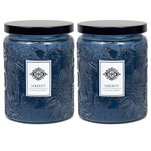 2 Aromatherapy Scented Candles - Serenity - Two 16 Ounce Glass Mason Jar Candles with a 100 Hour Burn Time - A Great Gift and Beautiful Decor Piece! Best Buy Christmas Return Policy