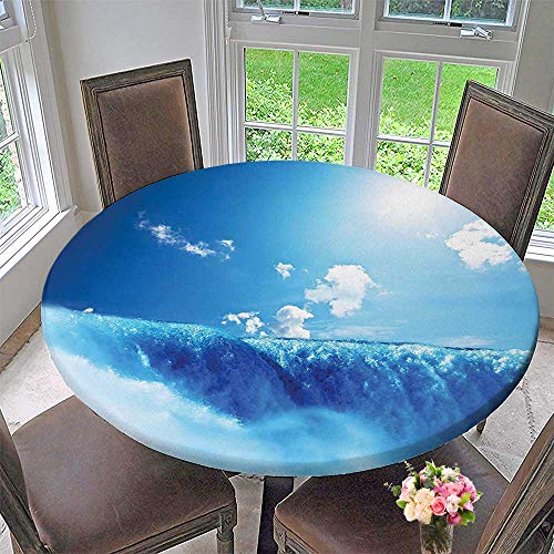 (Mikihome Modern Table Cloth Decor Niagara Falls and Bright Sky Landscape Image Majestic River Nature Theme Art Indoor or Outdoor Parties 35.5