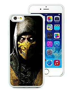 Special Custom iPhone 6 Case mortal kombat x scorpio ninja mask White Personalized Picture iPhone 6 4.7 Inch TPU...