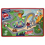 Disney Cars 2 Game Play Rug with 2 Cars