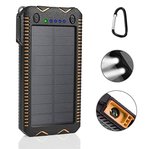 Solar-ChargerPortable-Upgrade-Version-12000mAh-Dual-USB-Solar-Battery-Charger-External-Battery-Pack-Phone-Charger-Power-Bank-for-Outdoors-Rainproof-Dust-proof-Shockproof