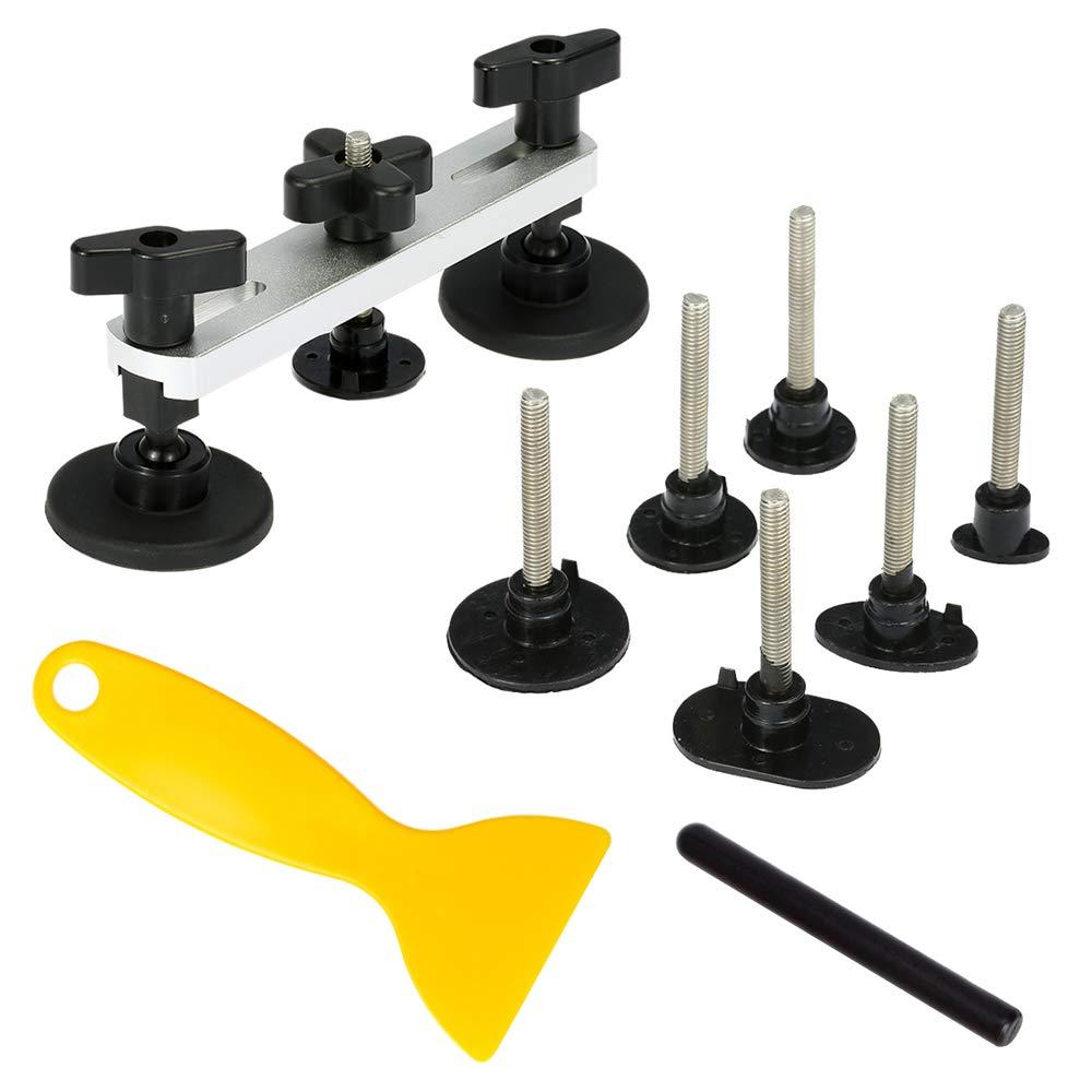 BOFEISI Dent Repair Tools Kit, Auto Car Dent Puller Paintless Aluminum Fix Pulling Bridge Removal Glue Tab Tool for Hail Damage
