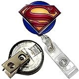 Justice League Superman Inspired Symbol Real Charming Premium Decorative ID Badge Holder (Key-BAK)