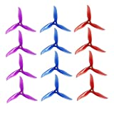 #7: DALPROP Cyclone T5040C 5 Inch 3-blade Propeller 6Pairs/12pieces (6CW/6CCW) for FPV Freestyle Drone Quadcopter 3 Colors Mega-Pack