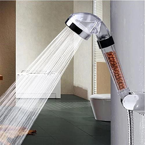 Bath Shower Head Bead Balls Handsfree Water Saving High Pressure Boosting Filter