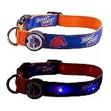 Dog-E-Glow Boise State University Broncos Lighted LED Dog Collar, Medium, 10-Inch by 15-Inch