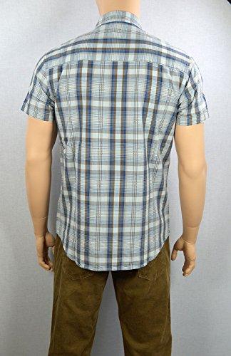 Wrangler Herren Regular Fit Hemd W5730M49T S/S 2-PKT Flap Shirt Gelestial Blue