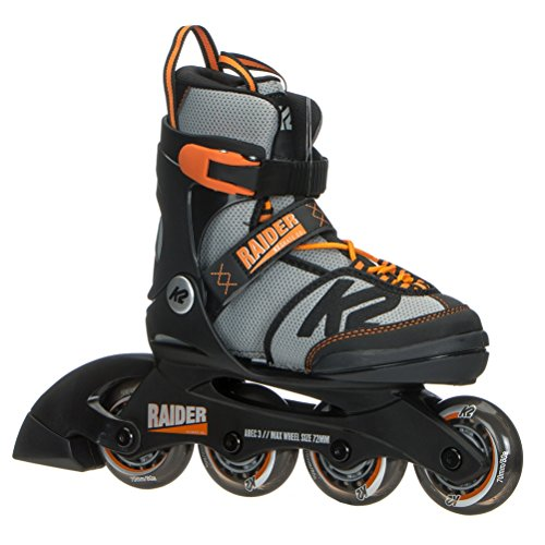 K2 Skate Raider, Black Orange, 4-8 (Boys In Line Skates)
