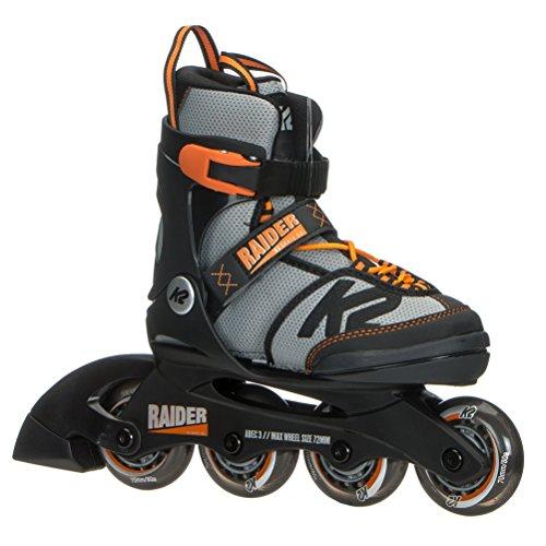 K2 Skate Raider, Black Orange, 4-8