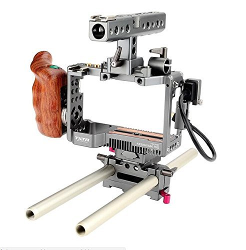 Tilta ES-T27-A New style Tilta for Sony A6300/A6500 Rig+Baseplate+Wooden Handle