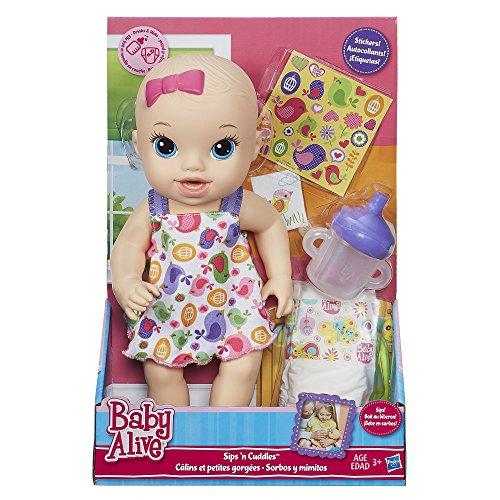 Birdy Baby Cuddles Sips Alive Baby Blonde 'n Doll Dress AqrYOwqn