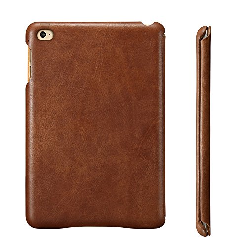 Jisoncase iPad Mini 4 Case, Leather Ultra Slim Smart-shell Stand Cover Case With Auto Wake/Sleep for Apple iPad Mini 4 (JS-IM4-01A) (Vintage Brown) by Jisoncase (Image #3)