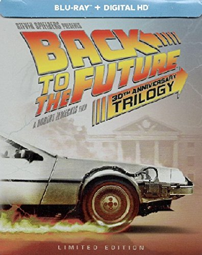 (BACK TO THE FUTURE 30th Anniversary Complete Trilogy Steelbook (4-disc Blu-ray + Digital HD) [Target Exclusive Steelbook with Bonus Disc; Limited Edition])