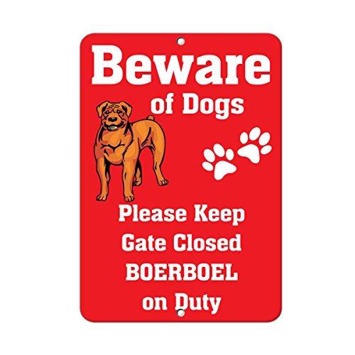 Boerboel Dog Beware of Fun Novelty SignVinyl Sticker Decal 8