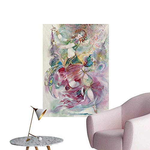 Anzhutwelve Watercolor Poster Wall Decor Oriental Dance Theme