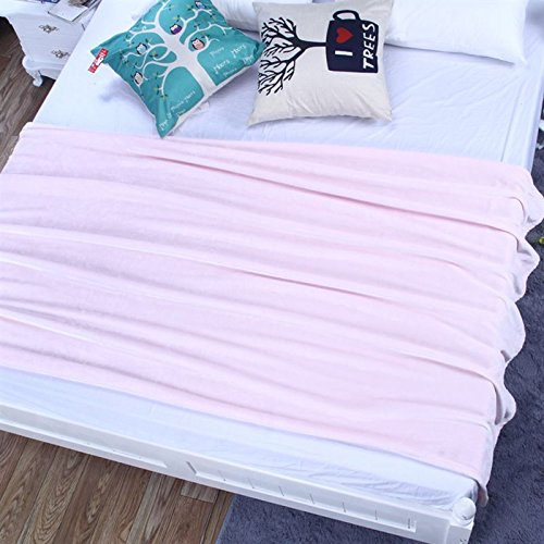 Znzbzt Flannel blanket quilt single dorm students extra thick blankets winter coral fleece bed pure color blanket,130cmx200cm, pink Barbie powder 320g thick