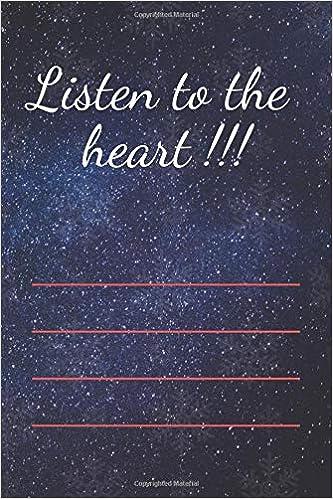 Listen to the heart !!!: motivational notebooks: Peter Night