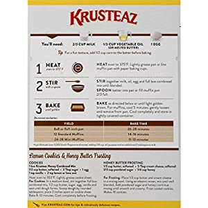 Krusteaz Cornbread And Muffin Mix Honey 15-ounces by Continental Mills