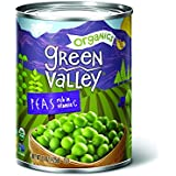 'Green Valley Organics Sweet Peas, 15 Ounce (Pack of 12)' from the web at 'https://images-na.ssl-images-amazon.com/images/I/51j4UaMd4FL._AC_SR160,160_.jpg'