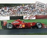 Facsimile Autographed Team Ferrari Michael Schumacher Action