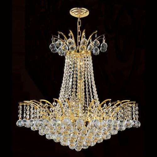 Worldwide Lighting Empire Collection 8 Light Gold Finish Crystal Chandelier 19
