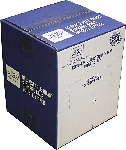 Industries Quarts - AEP Industries ZIP1QS500 Zipper Seal Quart Storage Bags, Clear (Pack of 500)