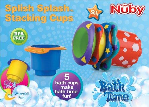 Nuby 5 Count Splish Splash Stacking Bath Cups