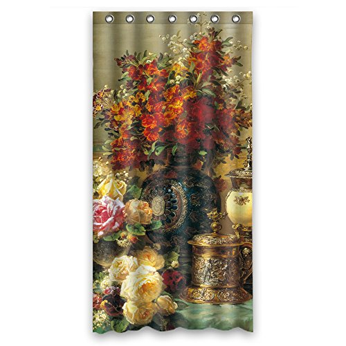 PLATIM The Famous Classic Art Painting Flowers Blossoms Bath Curtains Of Polyester Width X Height / 36 X 72 Inches / W H 90 By 180 Cm Decoration Gift For - H And Nyc M Kids