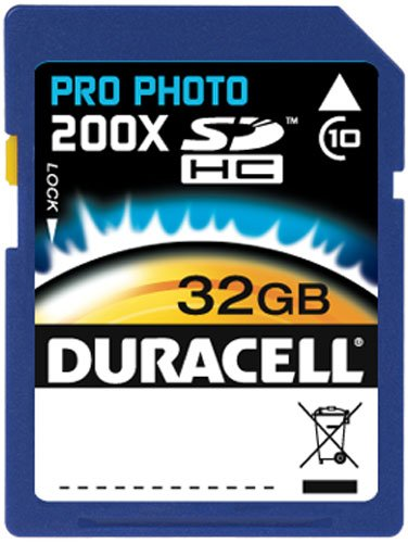 Duracell High Speed Card 32 GB Class 10 Secure Digital  DU-SD1032G-C