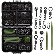 Carp Fishing Tackle Kit-300Pcs/Box Including Anti Tangle Sleeves Hook Stop Beads Boilie Bait Screw Rolling Swi