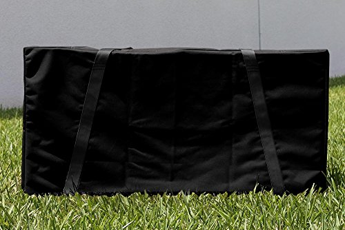 Black With Black Straps Cornhole Carrying Case (Full Size For Two 24x48 (Cornhole Covers)