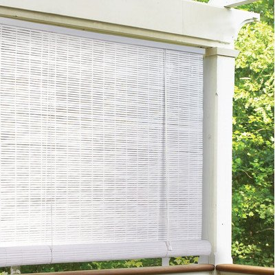 "Radiance 1/4"" Oval Vinyl PVC Roll-Up Blinds in White - Additional limited-time savings reflected in current price Choose from available widths and lengths For indoor or outdoor use - shades-parasols, patio-furniture, patio - 51j4VpCmBiL. SS400  -"