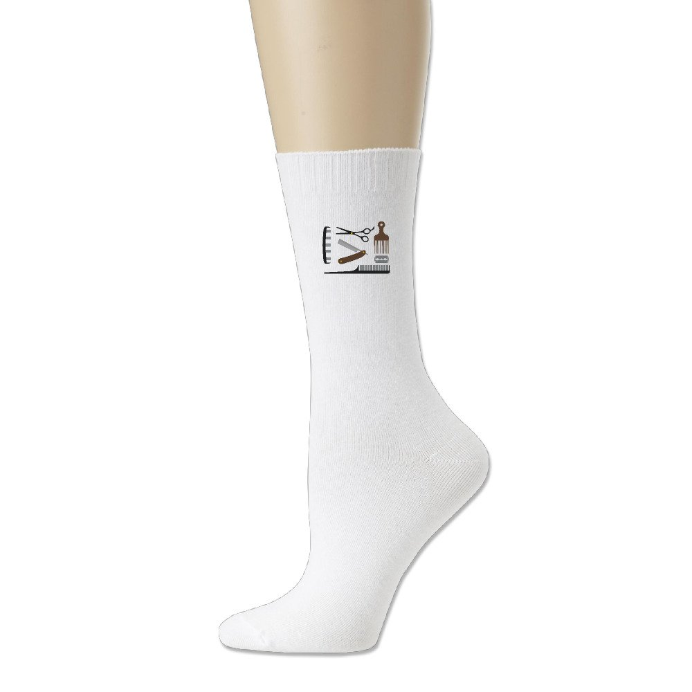 Adult Unisex Barber Tools Free Vector Art Athletic Sock Casual Socks (3 Colors)